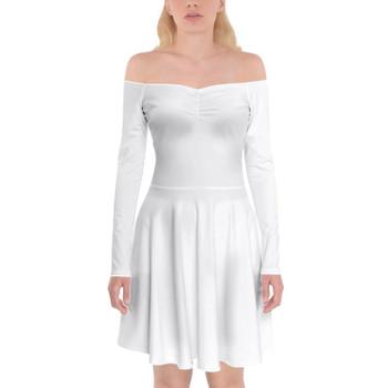 Off Shoulder Long Sleeve Skater Dress
