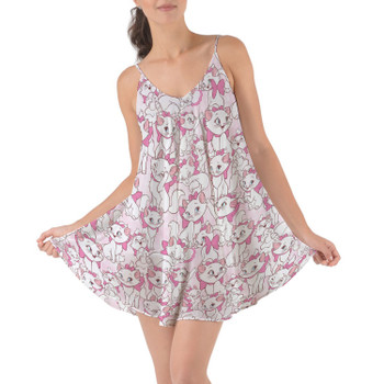 Beach Cover Up Dress - Marie with her Pink Bow
