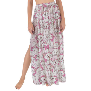 Maxi Sarong Skirt - Marie with her Pink Bow