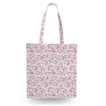 Canvas Tote Bag - Marie with her Pink Bow