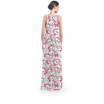 Flared Maxi Dress - Marie with her Pink Bow