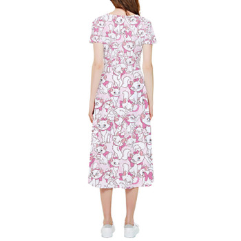 High Low Midi Dress - Marie with her Pink Bow