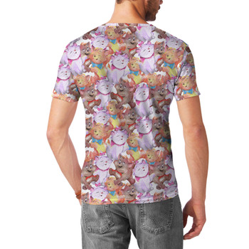 Men's Sport Mesh T-Shirt - The Aristocats in Watercolor
