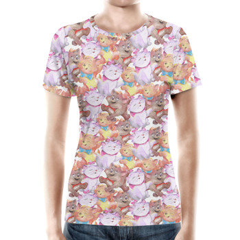 Women's Cotton Blend T-Shirt - The Aristocats in Watercolor