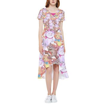 High Low Midi Dress - The Aristocats in Watercolor