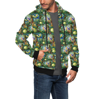 Men's Zip Up Hoodie - Tinkerbell in Pixie Hollow