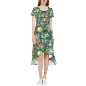 High Low Midi Dress - Tinkerbell in Pixie Hollow