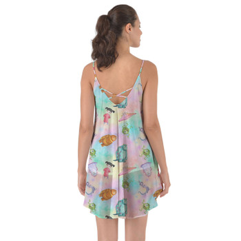 Beach Cover Up Dress - Watercolor Monsters Inc