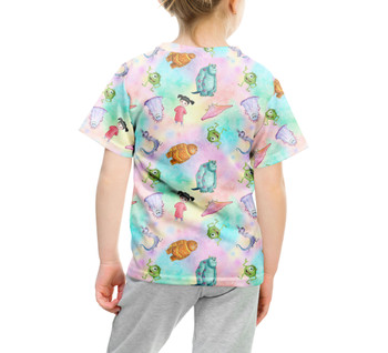 Youth Cotton Blend T-Shirt - Watercolor Monsters Inc