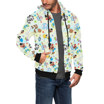Men's Zip Up Hoodie - Toy Story Style