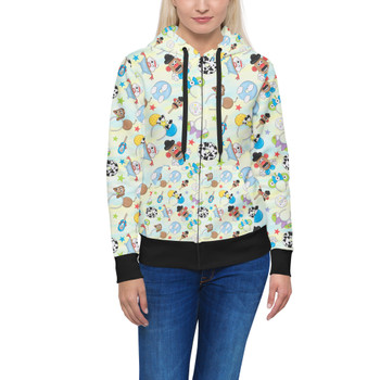 Women's Zip Up Hoodie - Toy Story Style