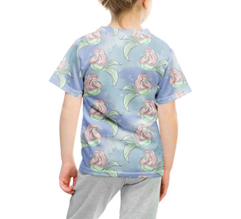 Youth Cotton Blend T-Shirt - Sketch of Ariel