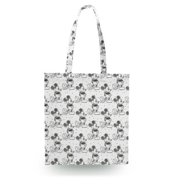 Canvas Tote Bag - Sketch of Mickey Mouse