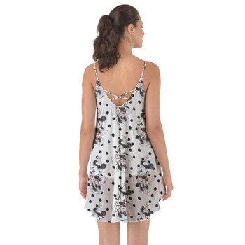 Beach Cover Up Dress - Sketch of Minnie Mouse