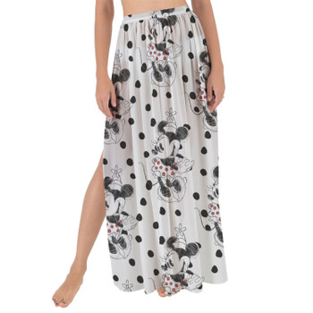 Maxi Sarong Skirt - Sketch of Minnie Mouse