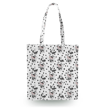 Canvas Tote Bag - Sketch of Minnie Mouse