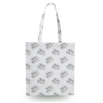 Canvas Tote Bag - Sketch of Steamboat Mickey