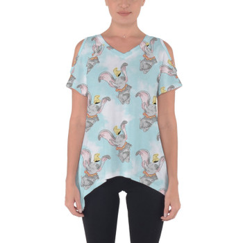 Cold Shoulder Tunic Top - Sketch of Dumbo