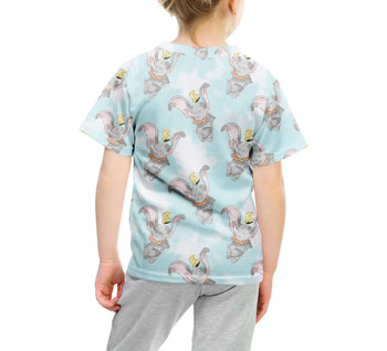Youth Cotton Blend T-Shirt - Sketch of Dumbo
