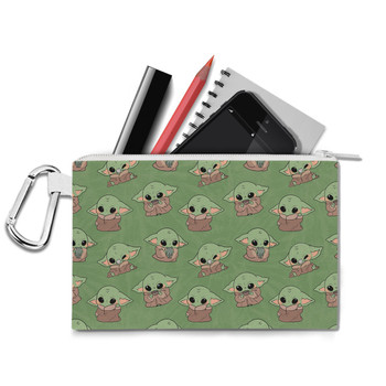 Canvas Zip Pouch - The Child Catching Frogs