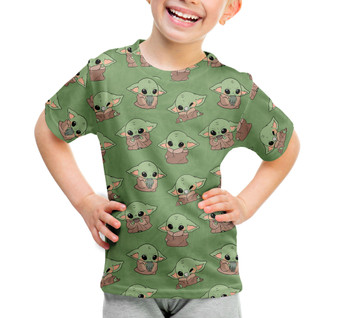 Youth Cotton Blend T-Shirt - The Child Catching Frogs