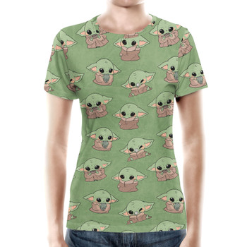 Women's Cotton Blend T-Shirt - The Child Catching Frogs