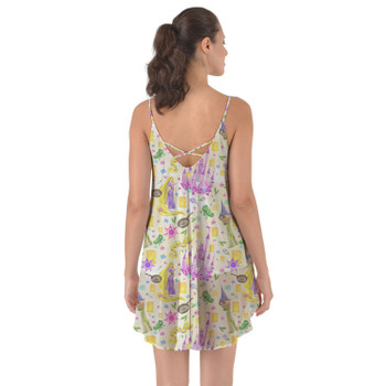 Beach Cover Up Dress - Watercolor Tangled