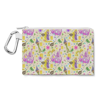 Canvas Zip Pouch - Watercolor Tangled