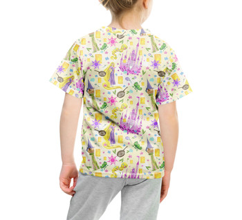 Youth Cotton Blend T-Shirt - Watercolor Tangled