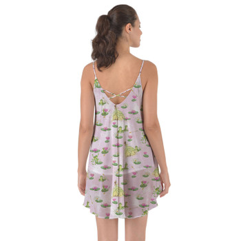 Beach Cover Up Dress - Watercolor Princess Tiana & The Frog