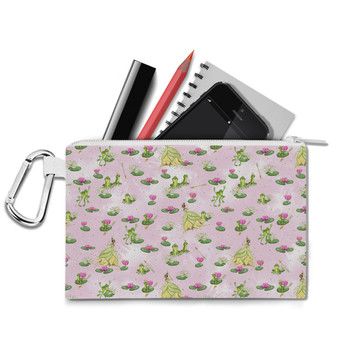 Canvas Zip Pouch - Watercolor Princess Tiana & The Frog