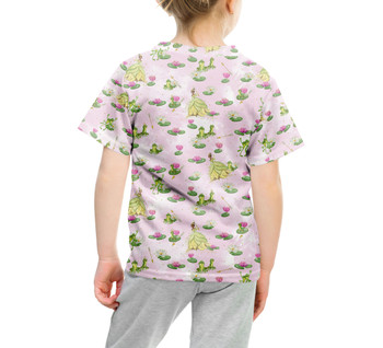 Youth Cotton Blend T-Shirt - Watercolor Princess Tiana & The Frog
