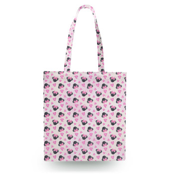 Canvas Tote Bag - Watercolor Minnie Mouse In Pink