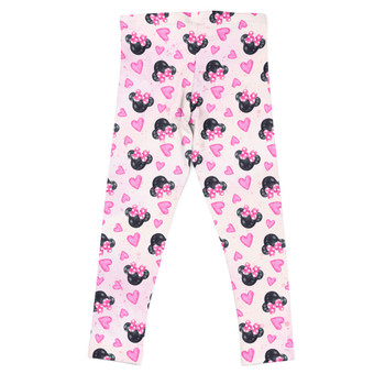 Girls' Leggings - Watercolor Minnie Mouse In Pink