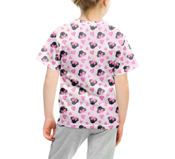 Youth Cotton Blend T-Shirt - Watercolor Minnie Mouse In Pink