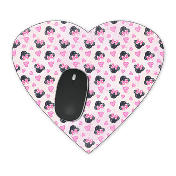 Mousepad - Watercolor Minnie Mouse In Pink