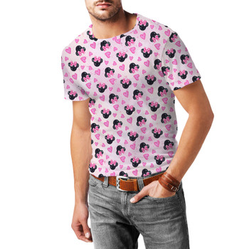 Men's Sport Mesh T-Shirt - Watercolor Minnie Mouse In Pink
