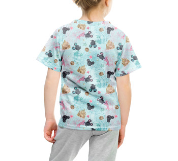 Youth Cotton Blend T-Shirt - Watercolor Minnie Mermaids