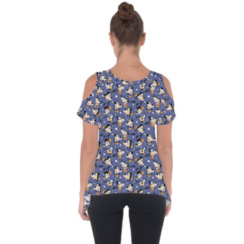 Cold Shoulder Tunic Top - Goofy