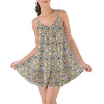Beach Cover Up Dress - Funny Minions
