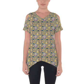 Cold Shoulder Tunic Top - Funny Minions