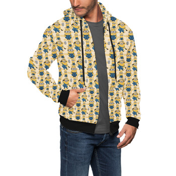 Men's Zip Up Hoodie - Minions Bananas