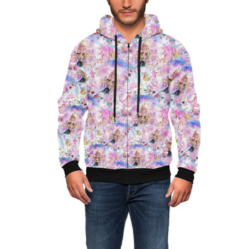 Men's Zip Up Hoodie - Best Friends At Disney