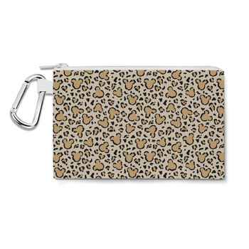 Canvas Zip Pouch - Mouse Ears Animal Print
