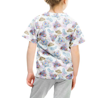 Youth Cotton Blend T-Shirt - Watercolor Cinderella