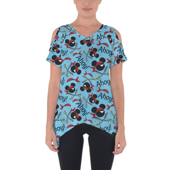 Cold Shoulder Tunic Top - Pirate Mickey Ahoy!
