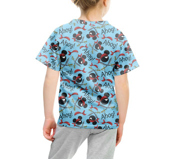 Youth Cotton Blend T-Shirt - Pirate Mickey Ahoy!