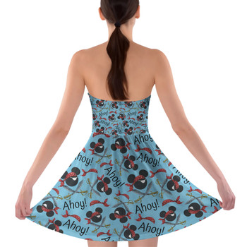 Sweetheart Strapless Skater Dress - Pirate Mickey Ahoy!