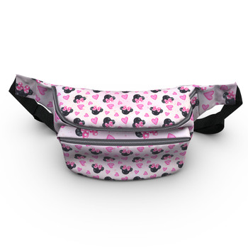 Fanny Pack - Watercolor Minnie Mouse In Pink