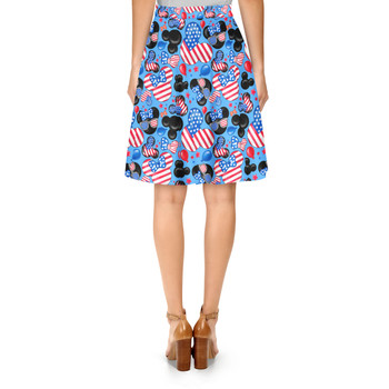 A-Line Skirt - Mickey's Fourth of July